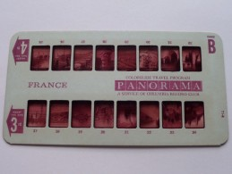 FRANCE PANORAMA Card B ( Colorslide Travel Program Columbia Record Club / Zie Foto´s Voor Details ) ! - Lieux