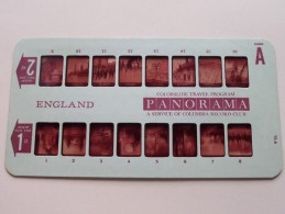ENGLAND PANORAMA Card A ( Colorslide Travel Program Columbia Record Club / Zie Foto´s Voor Details ) ! - Lieux