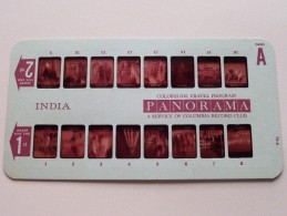 INDIA PANORAMA Card A ( Colorslide Travel Program Columbia Record Club / Zie Foto´s Voor Details ) ! - Lieux
