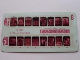 THE PHILIPPINES PANORAMA Card B ( Colorslide Travel Program Columbia Record Club / Zie Foto´s Voor Details ) ! - Lieux