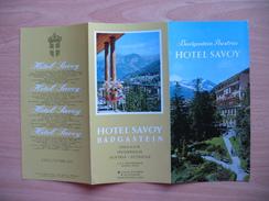 Hotel Savoy Badgastein - Dépliants Turistici