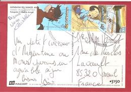 CP DE IGAZUNS   Vers FRANCE  2010 VOIR LES 2 SCANS - Cartas