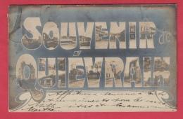 Quiévrain  - Souvenir De ... - Vues De Quiévrain Dans Les Lettres -1908 ( Voir Verso ) - Quiévrain