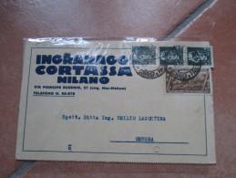 1933 5 Cent.Commemorativo + Cent.15 Imperiale X 3 Su DEpliant Ingranaggi CORTASSA Milano Ottimo TESTo Illustrazione - 1900-44 Vittorio Emanuele III
