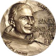 MEDALLA CONMEMORATIVA DE LA CANONIZACION DE SAN BENITO MENNI. 1.999 - Profesionales/De Sociedad