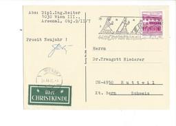 19026 - Christkindl Carte 03.01.1966 Pour Huttwill Bern + Vignette über Christkindl - Noël