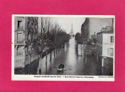 PARIS Inondé (janvier 1910), Rue St Charles, Animée, (Taride) - Inondations De 1910
