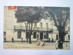 DAX  (Landes)  :  Succursale De La  SOCIETE GENERALE  -  Place De L'Hôtel De Ville   1908   - Dax
