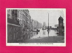 PARIS Inondé (janvier 1910), Quai Des Grands-Augustins, Animée - Inondations De 1910