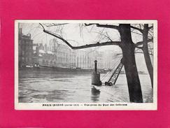 PARIS Inondé (janvier 1910), Vue Prise Du Quai Des Orfèvres - Inondations De 1910