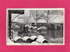 PARIS Inondé (janvier 1910), Entrepôt De Bercy, Animée, Barriques, (Taride) - Inondations De 1910