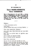 Zuster, Maria Vandebroek, Diepenbeek,Villers-l'éveque - Religión & Esoterismo