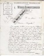 54 - Meurthe-et-moselle - JOEUF - Facture WEBERT-SCHMERTZENREICH - Fabrique De Meubless – 1905 - REF 254C - 1900 – 1949