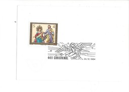 19014 - Christkindl  24.12.1984 Sur Feuillet - Noël