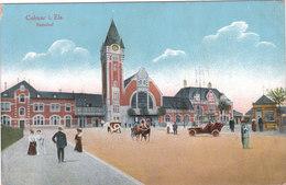 Carte Postale Ancienne Du Haut Rhin - Colmar I.Els. - Bahnof - Colmar