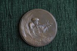 """Superbe Médaille En Bronze """" La Résistance 1944 - 1984"""", 40 ème Anniversaire """"Les Débarquements"""". - France"""