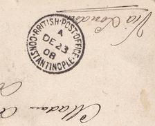 Johannesburg 1908 South Africa Transvaal British Post Office Constantinople Barberton Sheba G.M. Coy Cyanide Mills - Transvaal (1870-1909)