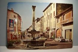 ANDUZE   -- La  Fontaine  Pradier  Et L'Avenue Rollin  - ( Pas De Reflet Sur L'original ) - Anduze
