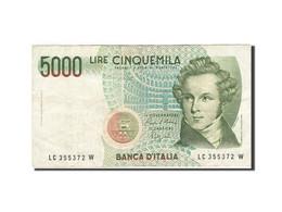 Italie, 5000 Lire, 1984-1985, KM:111b, 1985-01-04, TB+ - [ 2] 1946-… : République
