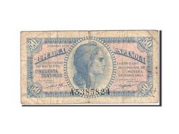 Espagne, 50 Centimos, 1937-1938, KM:93, 1937, TB - [ 3] 1936-1975 : Régence De Franco