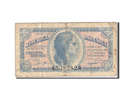 Espagne, 50 Centimos, 1937-1938, KM:93, 1937, TB - Andere