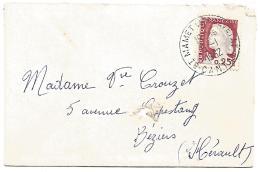MIGNONNETTE DE SAINT MAMET LA SALVETAT (CANTAL) 1962 - Marcophilie (Lettres)