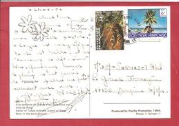 Y&T N°255+275  BORA BORA   Vers FRANCE  1987   VOIR LES 2 SCANS - Cartas