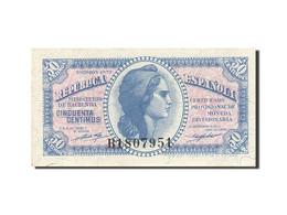Espagne, 50 Centimos, 1937-1938, KM:93, 1937, SPL - [ 3] 1936-1975: Regime Van Franco