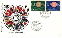 ITALY 1960 EUROPA CEPT  FDC ( Roma ) - Europa-CEPT