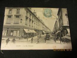 Cpa TOURS (37)la Rue Nationale - Tours
