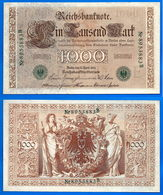 Allemagne 1000 Mark 1910 NEUF Grand Billet Que Prix + Port Marks Chiffre Vert Reichsbanknote Germany Skrill Ppal Bitcoin - 1000 Mark