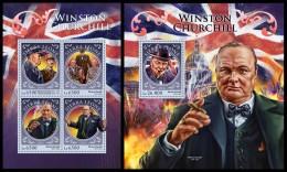 SIERRA LEONE 2016 - W. Churchill, World War 2, M/S + S/S. Official Issue. - 2. Weltkrieg