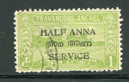 TRAVANCORE COCHIN- Service Y&T N°9- Oblitéré - Travancore-Cochin