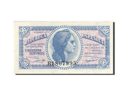 Espagne, 50 Centimos, 1937-1938, KM:93, 1937, SPL - [ 3] 1936-1975 : Regency Of Franco
