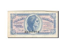 Espagne, 50 Centimos, 1937-1938, KM:93, 1937, SUP - [ 3] 1936-1975 : Regency Of Franco