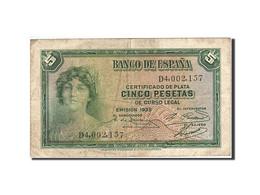 Espagne, 5 Pesetas, 1935, KM:85a, 1935, TB+ - [ 2] 1931-1936 : Republic