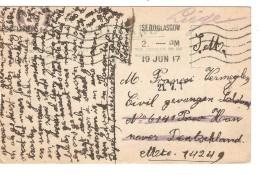 Guerre-Oorlog 14-18 Stampless PC Military C.Glasgow 1917 To Civil Prisonner Soltau Censored PR3731