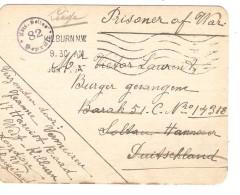 Guerre-Oorlog 14-18 Stampless PC Military Kilburn 1917 To Civil Prisonner Soltau Censored PR3732