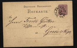 D.R.Ganzsache Mit Stempel Holzminden (127) - Allemagne