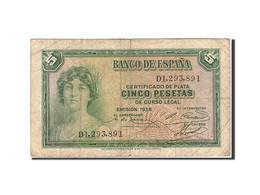 Espagne, 5 Pesetas, 1935, KM:85a, 1935, TB - 5 Pesetas