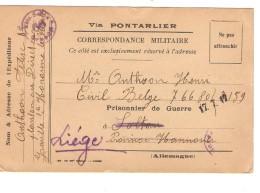 Guerre-Oorlog 14-18 CP écrite Du Havre En 1917 V.Prisonnier à Soltau Censure Puis Liège PR3735
