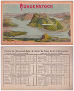 TRÈS RARE. 1896. Horaires Du CHEMIN De FER De BURGENSTOCK / FAHRPLAN BURGENSTOCK BAHN. - Europe
