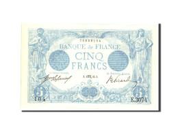 France, 5 Francs, 5 F 1912-1917 ''Bleu'', 1913, 1913-10-03, KM:70, SPL - 1871-1952 Anciens Francs Circulés Au XXème