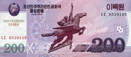 NORTH KOREA 200 원 (WON) 2008 (2014) P-NL UNC COMMEMORATIVE [KP352a] - Korea, North