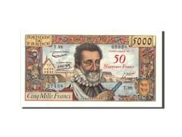 France, 50 Nouveaux Francs On 5000 Francs, 1955-1959 Overprinted With ''Nouveaux - 1955-1959 Surchargés En Nouveaux Francs