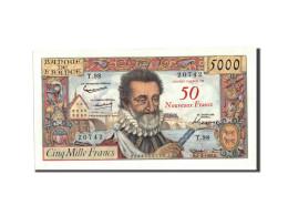 France, 50 Nouveaux Francs On 5000 Francs, 1955-1959 Overprinted With ''Nouveaux - 1955-1959 Sovraccarichi In Nuovi Franchi