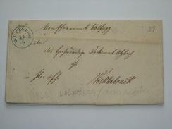 AUSTRIA 1864 VORPHILA ENTIRE Wolfsegg To Vocklabruck - 1850-1918 Empire