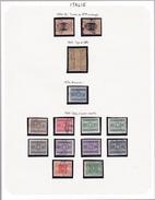 Italie - Collection Vendue Page Par Page - Timbres Oblitérés/ Neufs *(avec Charnière) - Qualité B/TB - Italien