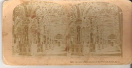 1483. Interior Of The Library Of The Vatican, Rome, Italy - Stereoscope Cards