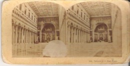 2391. Interior Of St. Paul, Rome Damage On Left Front - Stereoscope Cards